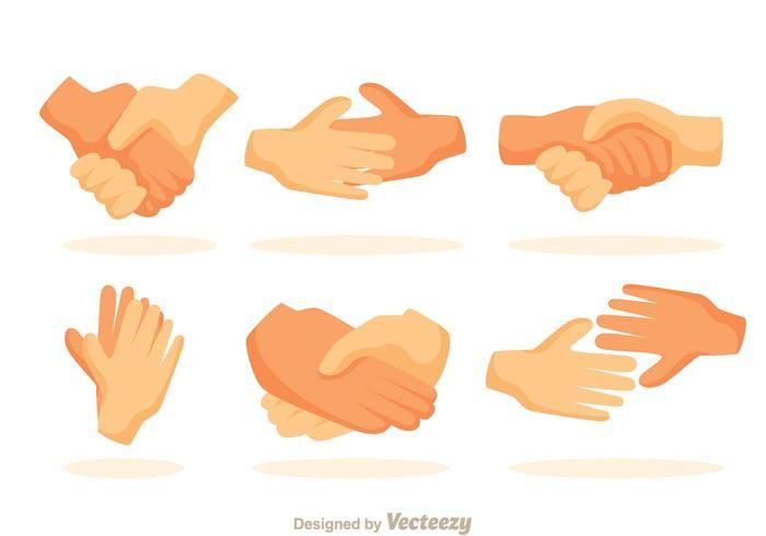 Icone della stretta di mano vettore
