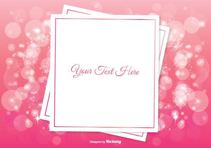 Bella illustrazione di sfondo rosa Bokeh vettore