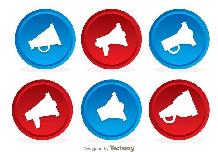 Vettori dell'icona del bottone del megafono