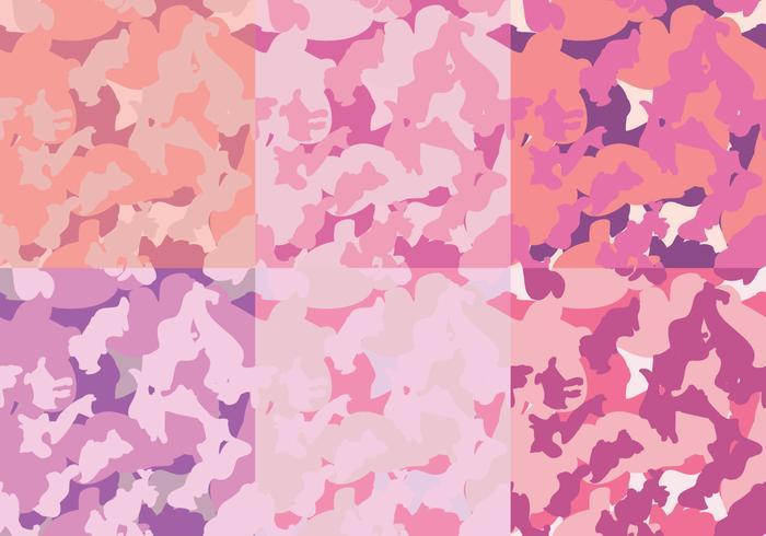 Modelli di moda rosa Camo Texture vettore