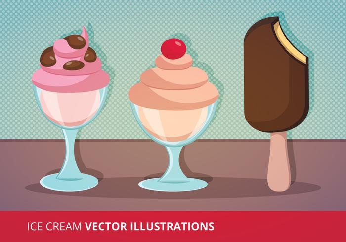Illustrazione vettoriale di gelato