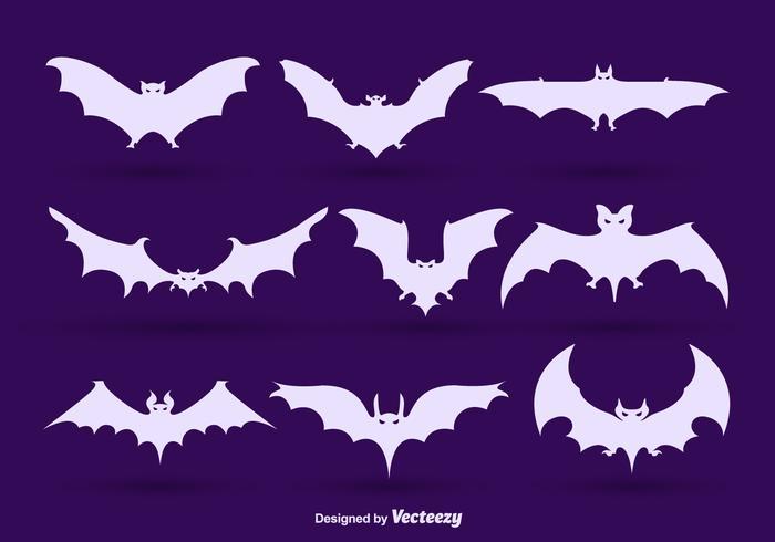 Sagome di pipistrello vettore