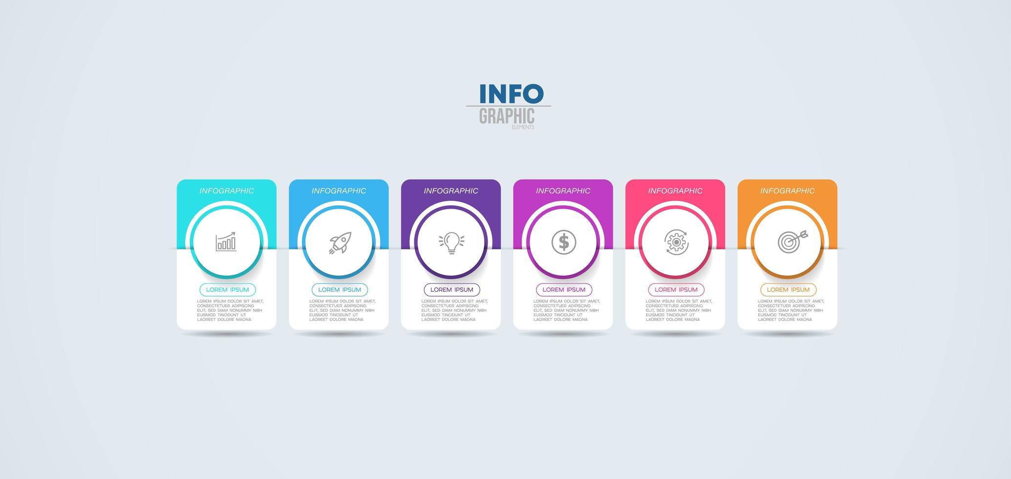 infografica affari colorati vettore