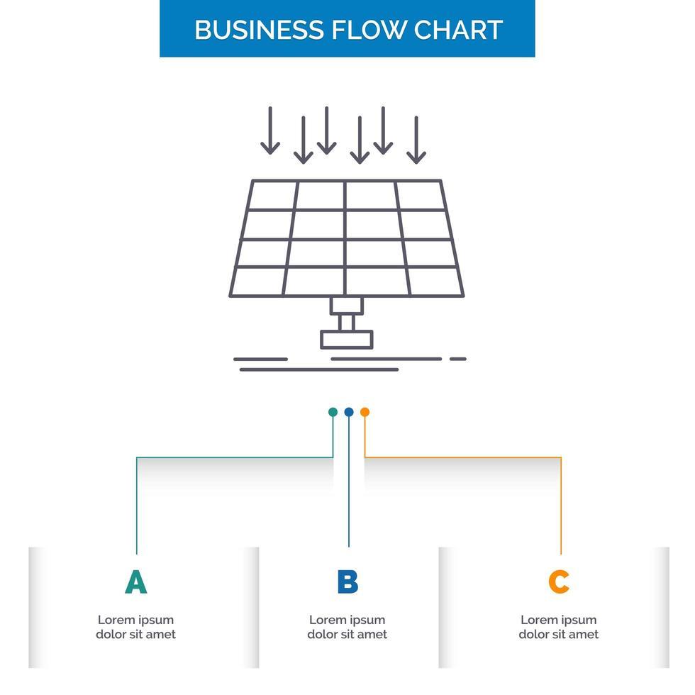 diagramma di flusso di affari di energia alternativa vettore