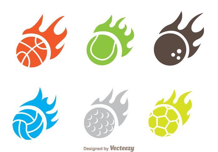 Vettori di icona palla di fiamma