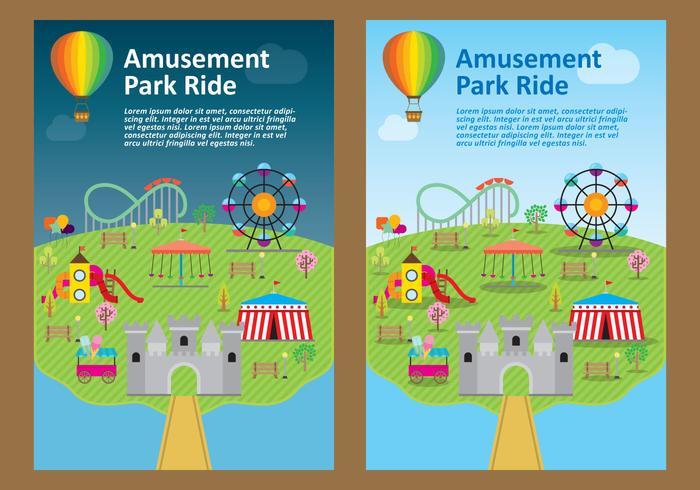 Vettori di Flyer parco divertimenti
