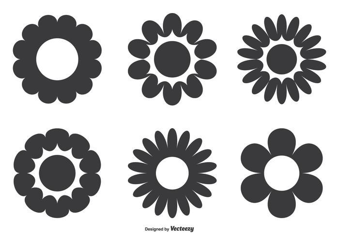Set di fiori semplici vettore