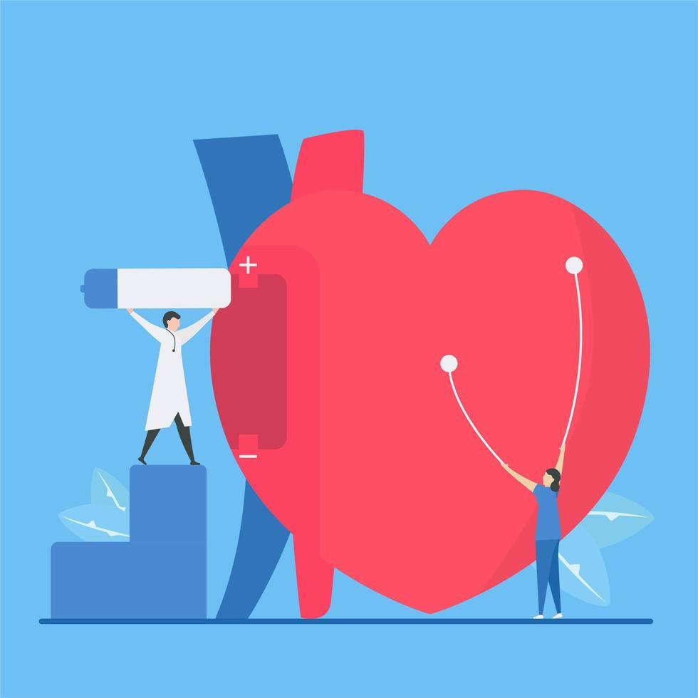 concetto di aritmia di bradicardia di cardiologia vettore