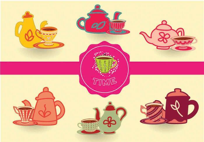 Vettori di tè tempo