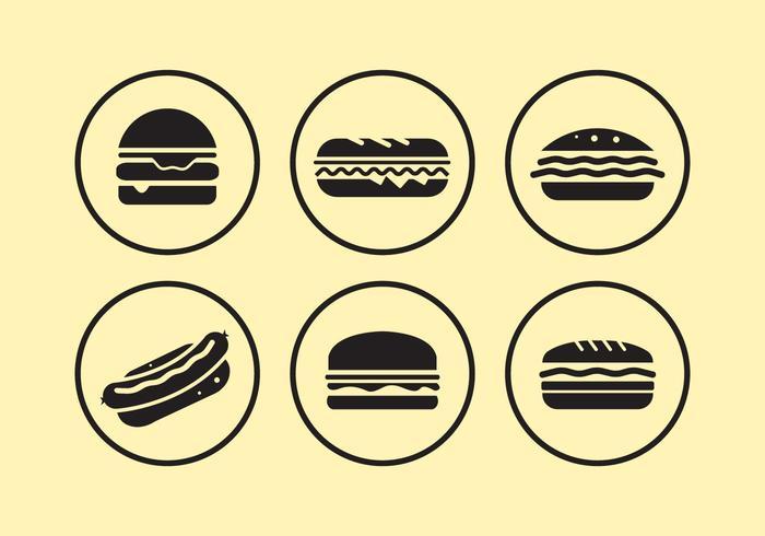 Icone alimentari vettore