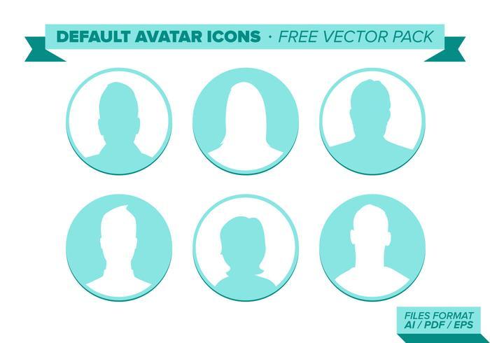 Default Avatar Pack vettoriali gratis