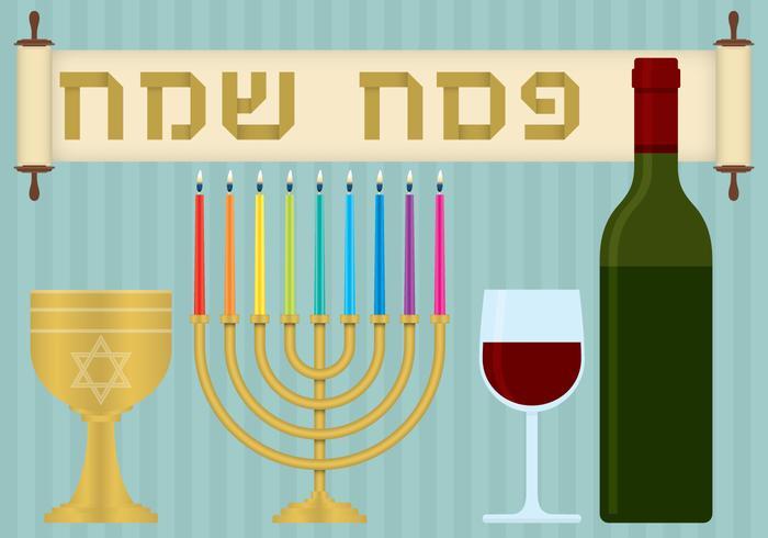 Pasqua ebraica vettore