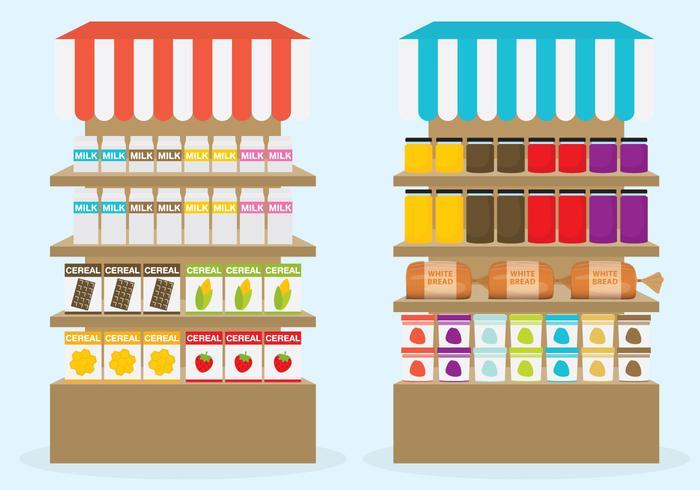 Vettori scaffale supermercato