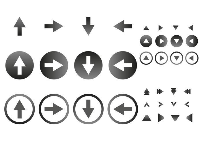 Vettore libero delle icone della freccia