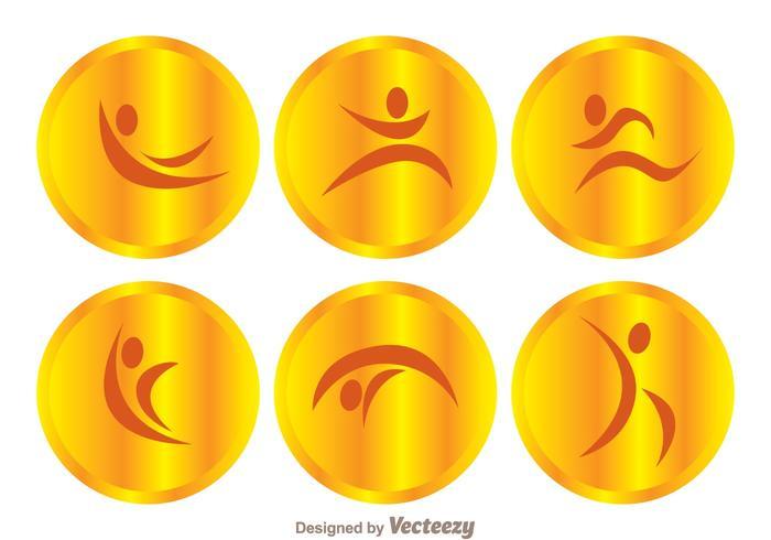 Icone vettoriali ginnasta d'oro