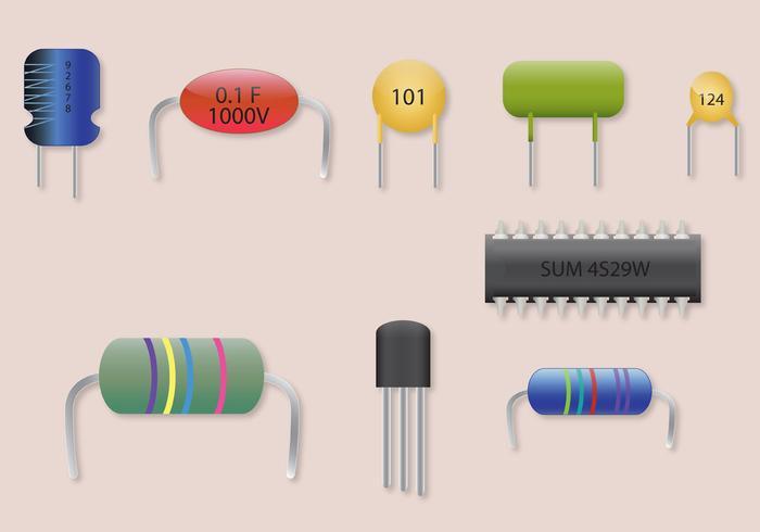 Set di parti del vettore transistor
