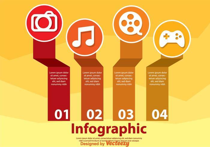 infografica per hobby vettore