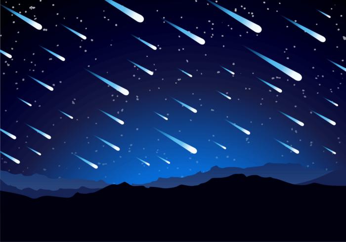 Vettore libero del fondo della doccia di meteora