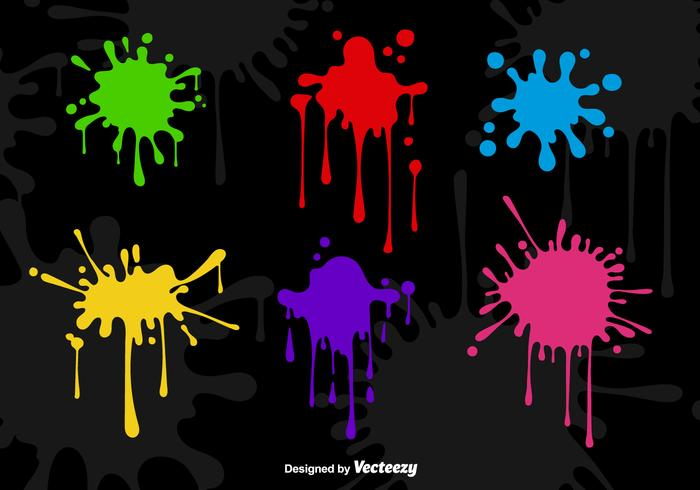 Gocce di vernice spray vettore