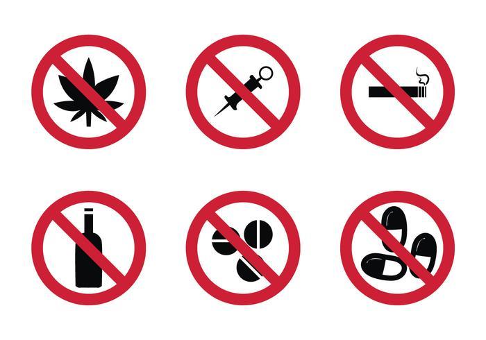 Icona di vettore senza droghe