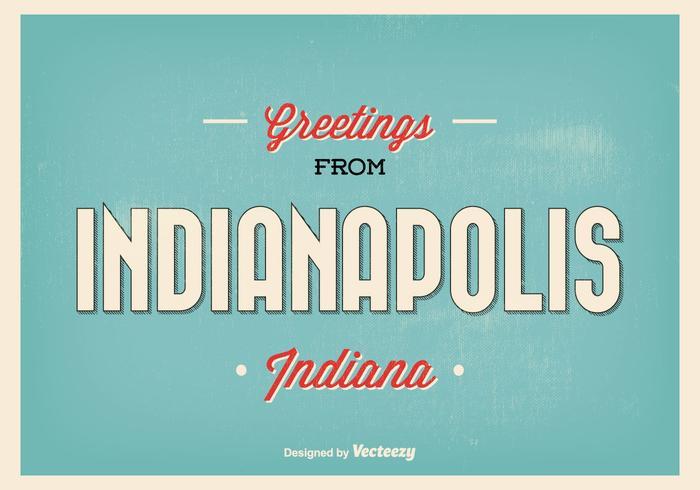 Retro illustrazione di saluto di Indianapolis vettore