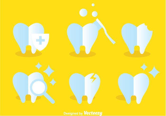Icone per la cura dei denti vettore