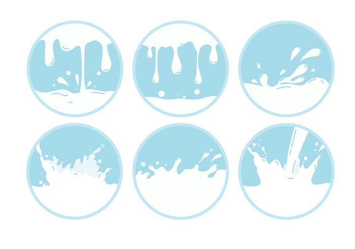 Vettori di onda del latte