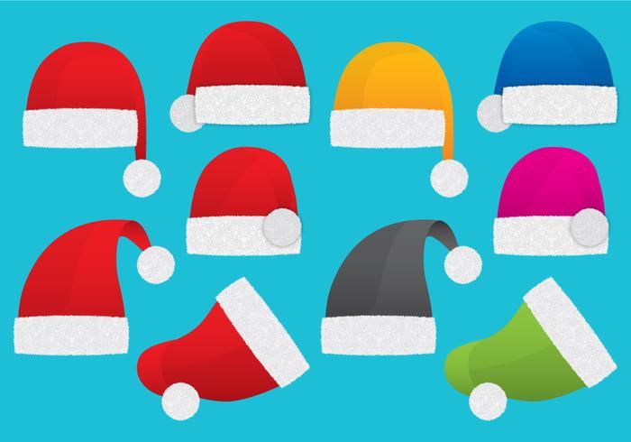 Cappelli di Babbo Natale vettore