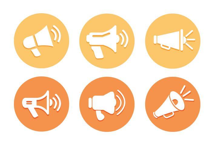 Vettori di icona del megafono