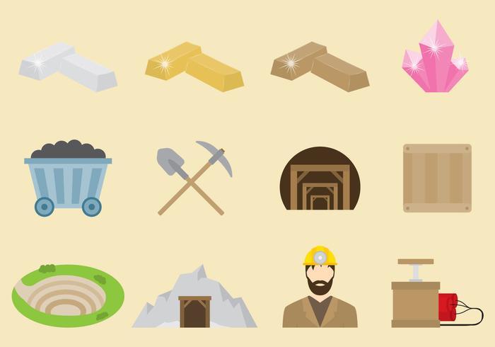 icone vettoriali minatore