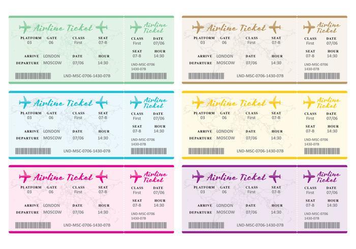 Biglietti aerei vettore