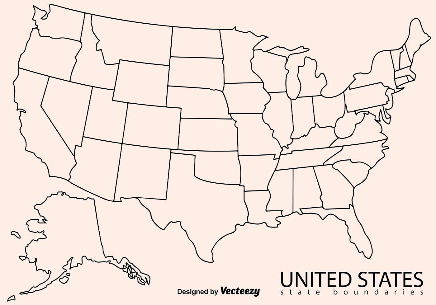 Cartina Italia Dwg.Stati Uniti Cartina Politica Muta