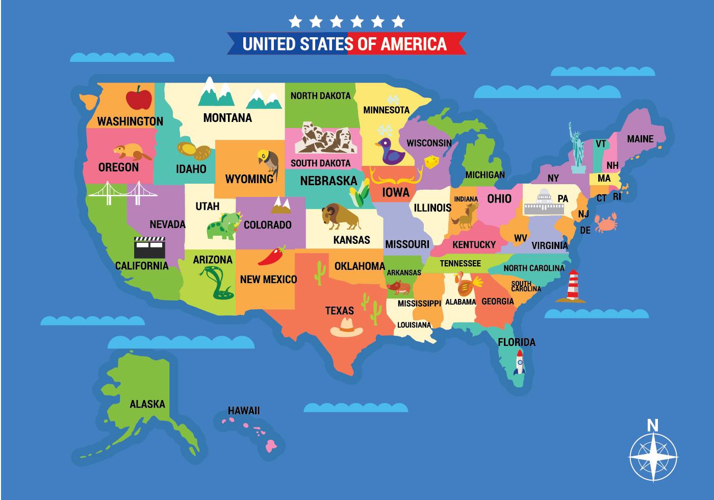La Cartina Geografica Degli Stati Uniti.Mappa Illustrata Degli Stati Uniti Con Dettagliata 227831 Scarica Immagini Vettoriali Gratis Grafica Vettoriale E Disegno Modelli