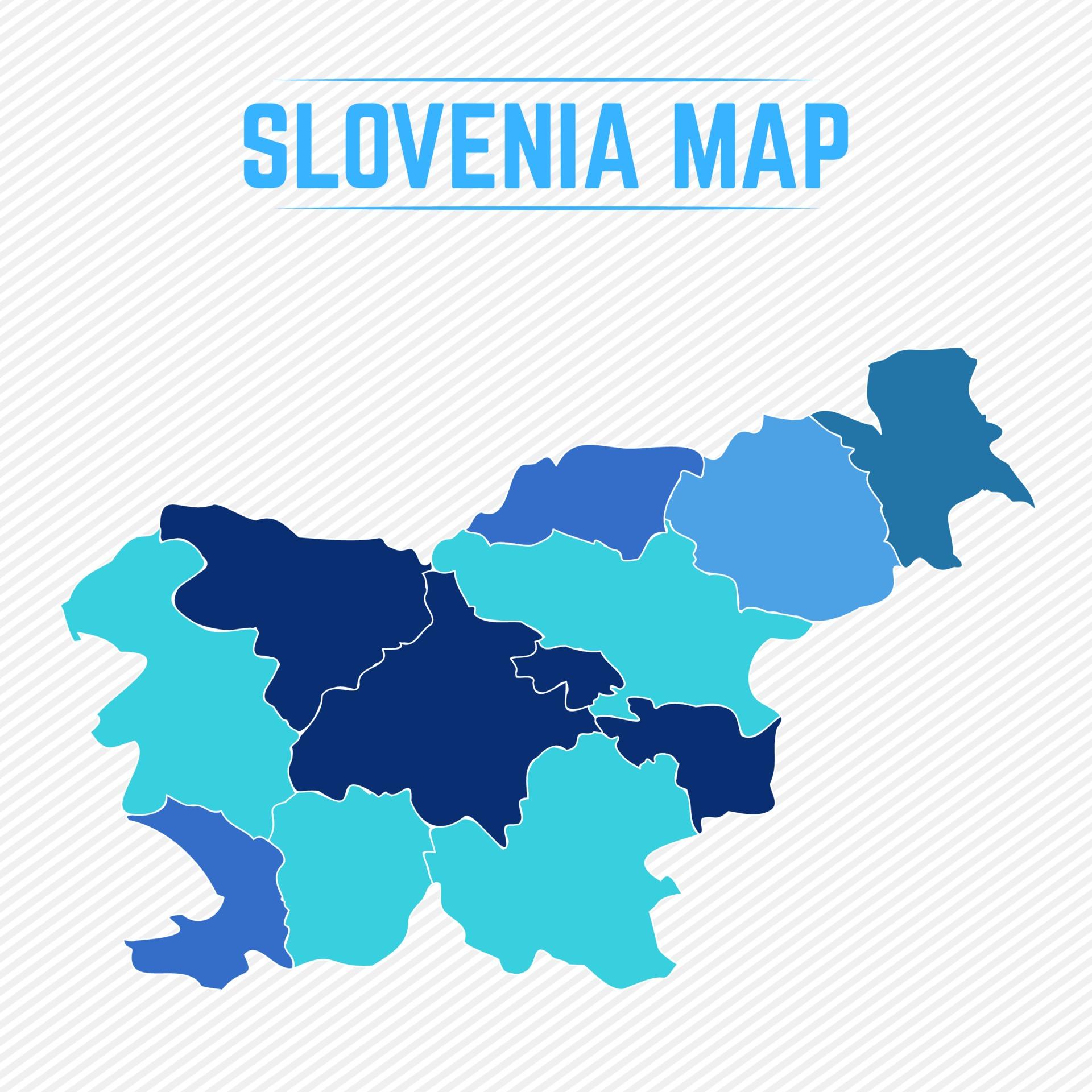 Croazia E Slovenia Cartina Geografica.Cartina Stradale Slovenia Croazia