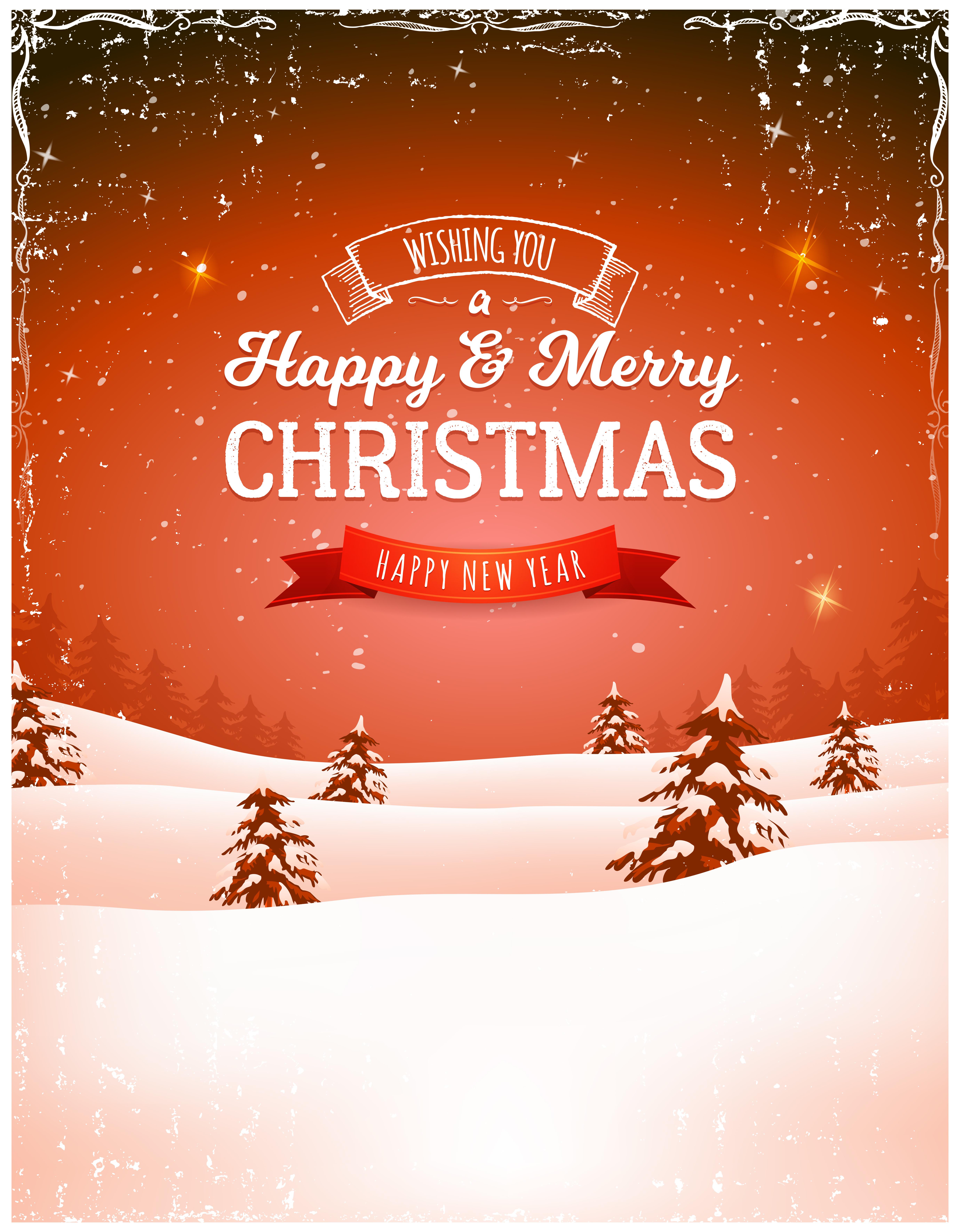 Sfondi Paesaggi Natalizi.Sfondo Di Paesaggio Di Natale Vintage 268103 Scarica Immagini Vettoriali Gratis Grafica Vettoriale E Disegno Modelli