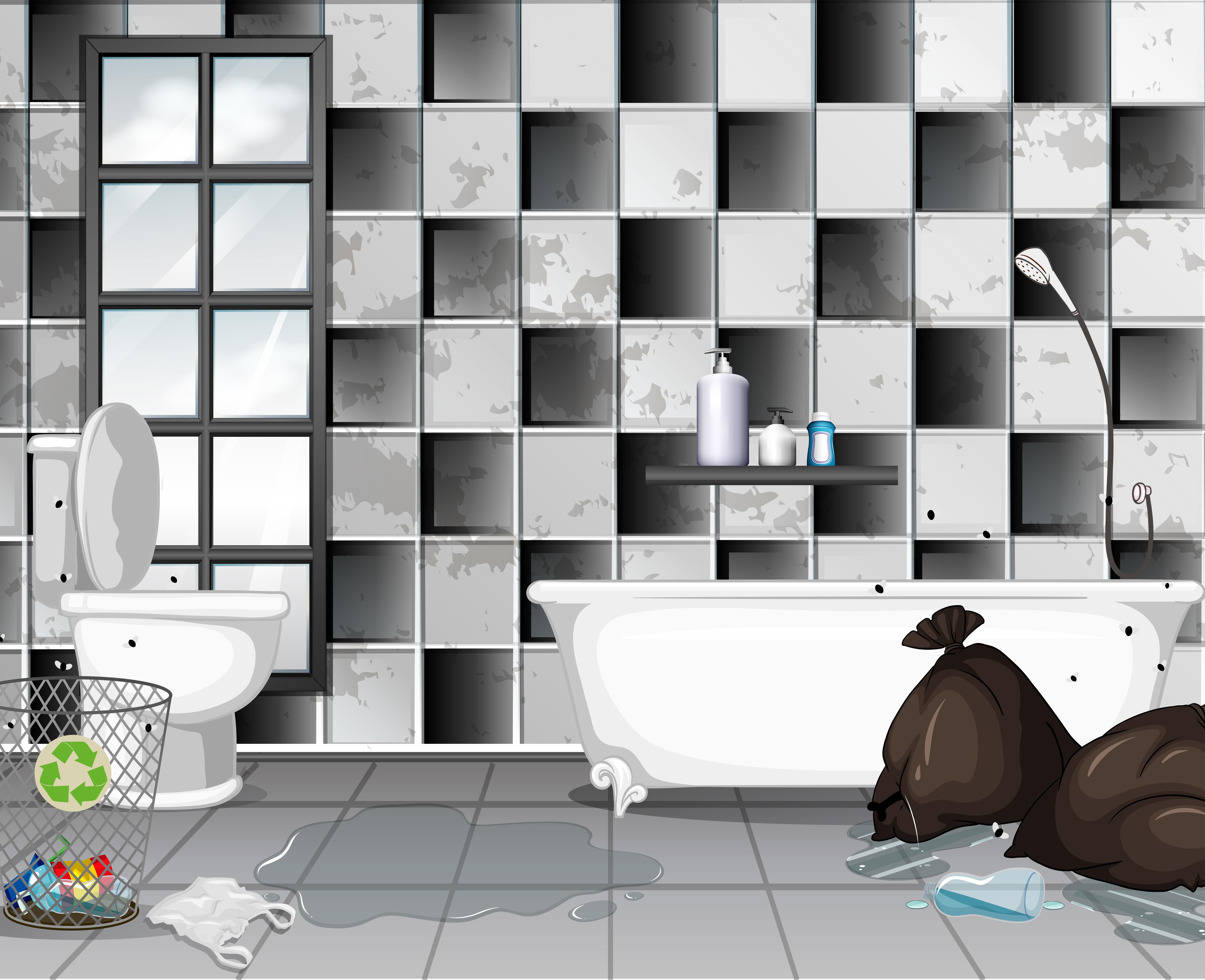 Sporco Con Scena Di Bagno Spazzatura 294001 Scarica Immagini Vettoriali Gratis Grafica Vettoriale E Disegno Modelli