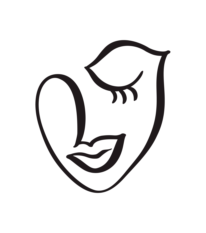 Linea Continua Disegno Di Volto Di Donna Concetto Minimalista Di Moda Testa Femminile Lineare Stilizzata Con Gli Occhi Chiusi Logo Di Cura Della Pelle Icona Di Salone Di Bellezza Illustrazione Vettoriale Una