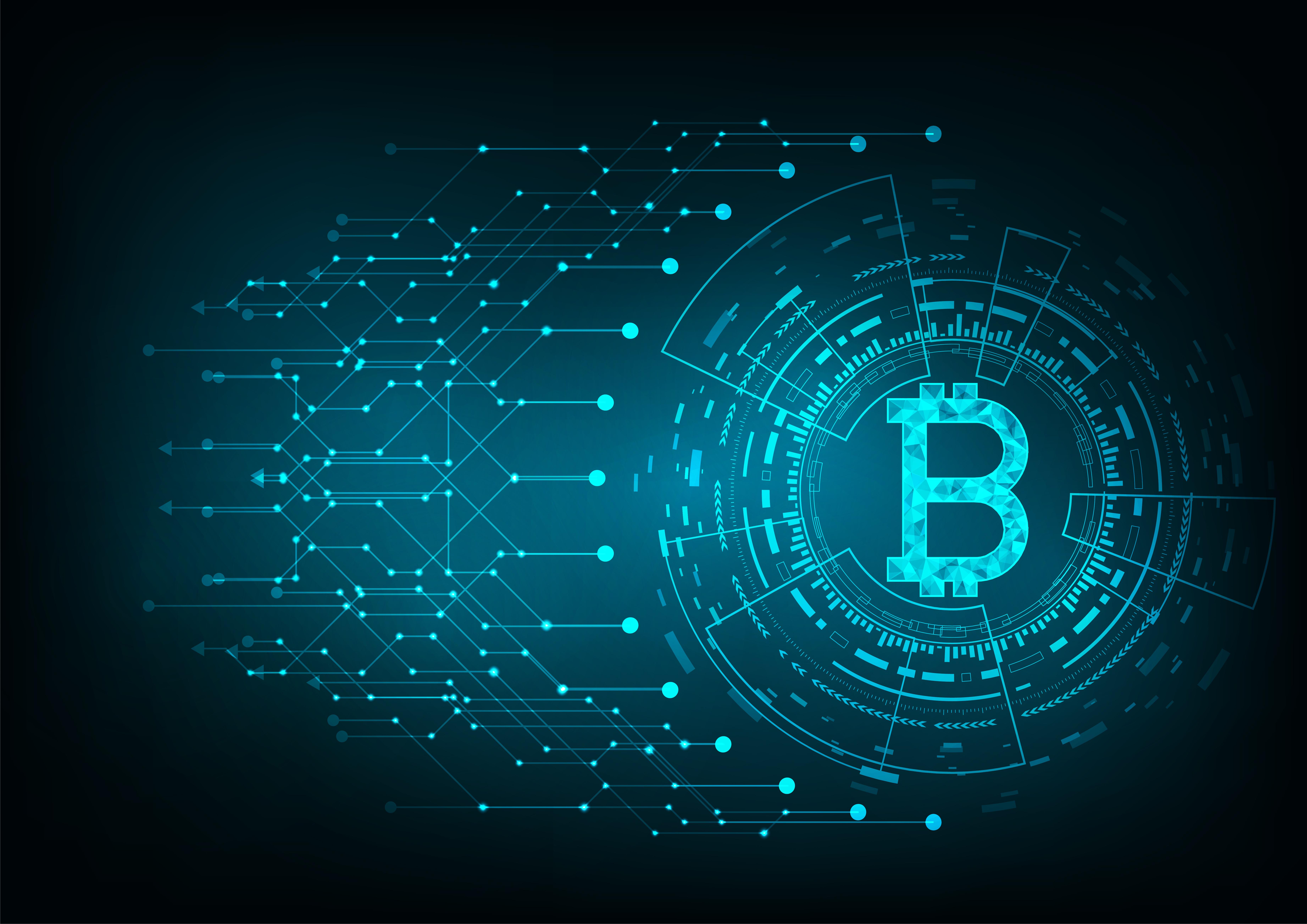Sfondo Bitcoin Astratto Illustrazione stock - Getty Images