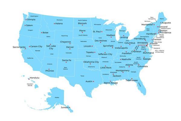 Usa Cartina Politica Con Capitali.Mappa Degli Stati Uniti D America Con Stati E Capitali 1873014 Scarica Immagini Vettoriali Gratis Grafica Vettoriale E Disegno Modelli