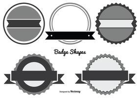 Set di forme di badge assortiti vettore