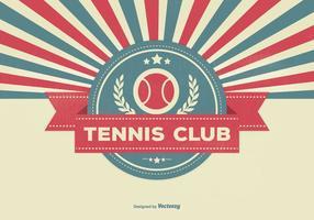 Illustrazione del club di tennis stile retrò vettore