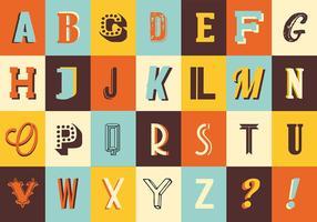 Vari retrò Vintage tipografia vettoriale
