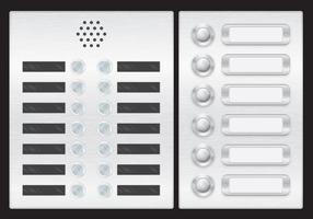 Vettori di pulsante porta e ascensore
