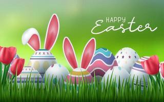 uova di Pasqua in erba buona carta di pasqua