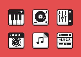 Insieme dell'icona di musica di vettore