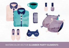 Elementi di vettore del pigiama party