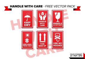 Maneggiare con cura Pacchetto gratuito di vettore