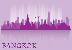 Skyline di Bangkok vettore
