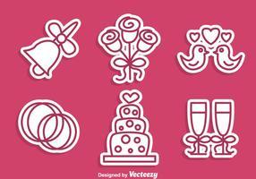 Icone di matrimonio Stiker