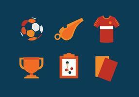 Insieme dell'icona di Futsal di vettore